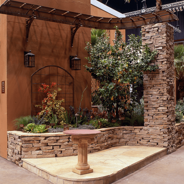 Garden and cobblestone set up elemental design group for Award winning landscape architects
