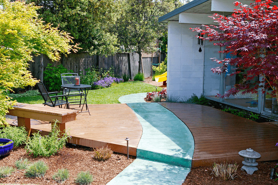Custom deck design landscaping san jose elemental design for Landscape design san jose