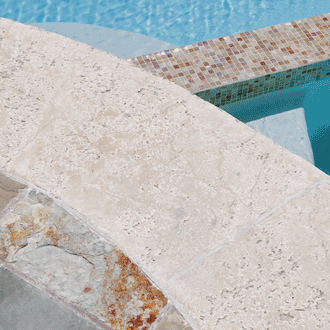 custom pool glass tile stone