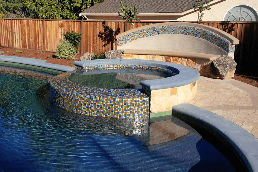 Custom pool design 2017 2018 best cars reviews for Pool design with hot tub