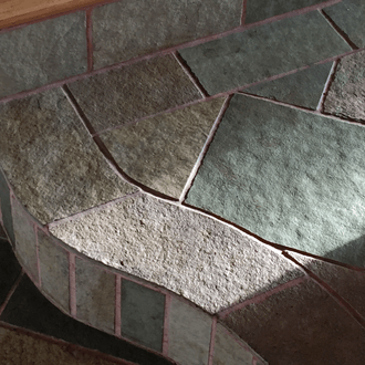 custom stone flooring curved stairs 330
