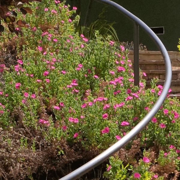 custom landscape railing garden design curve