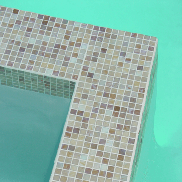 custom pool spa glass tile