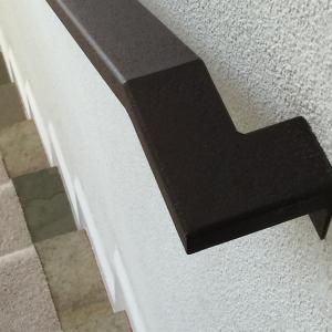 custom railing stone steps crisp lines