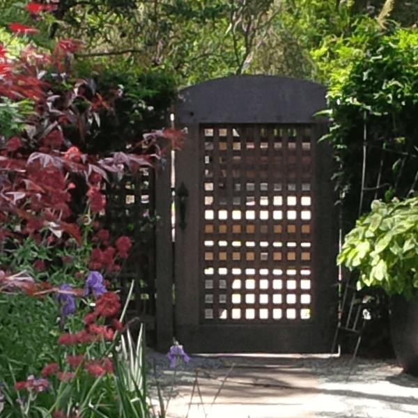 landscape design architecture custom wooden gate