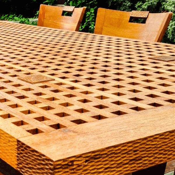 landscape design architecture custom wooden table