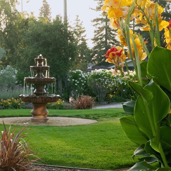 landscape design architecture garden fountain water