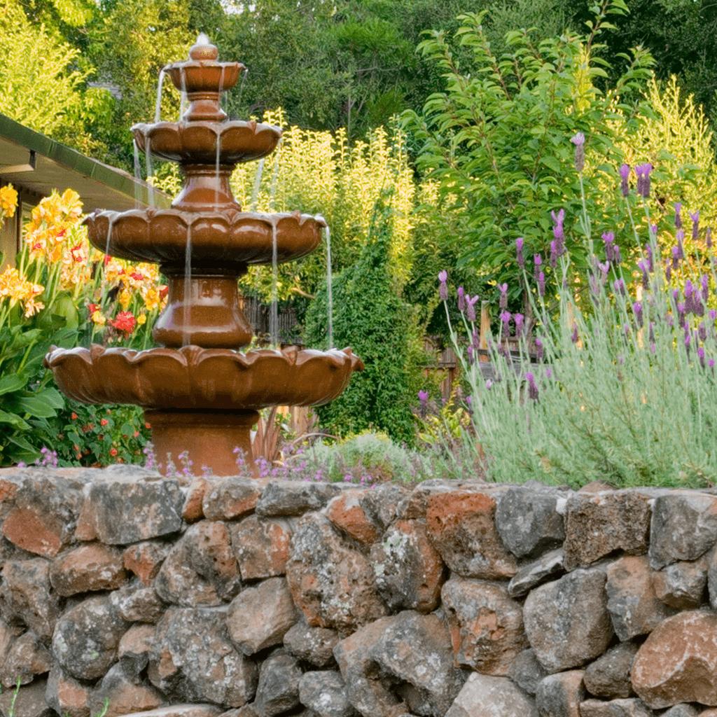 landscape design architecture garden stone wall