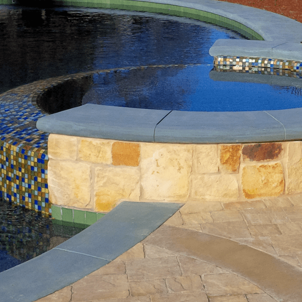 stunning custom pool spa round