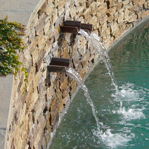 water feature custom pool spa fountain